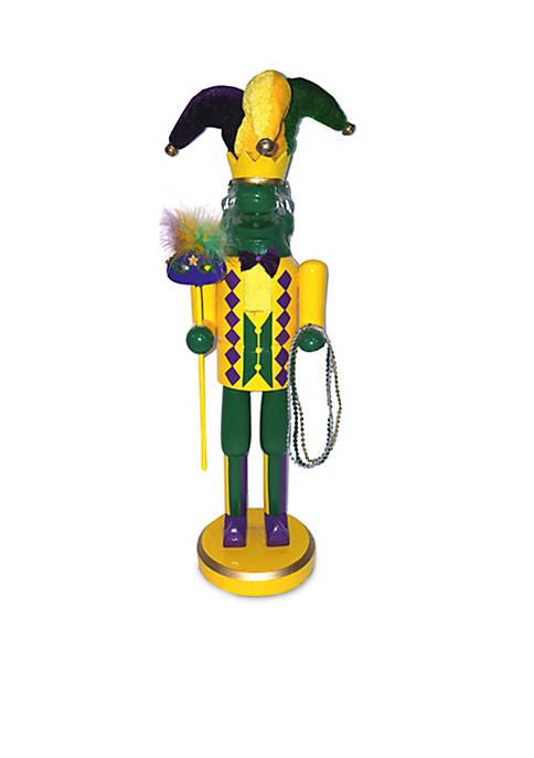 Santa's Workshop 14-inch Mardi Gras Gator Nutcracker