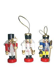 3-in. Nutcracker Ornaments, Set of 3