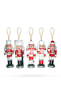 Candy Cane Drizzle Nutcracker, Set of 5
