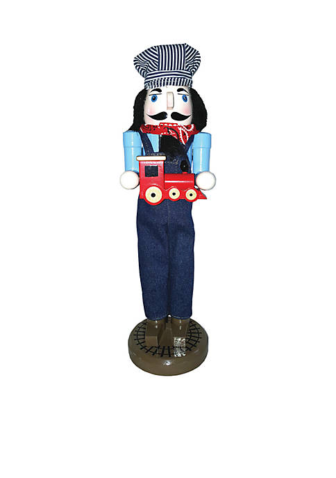 "14"" Train Conductor Nutcracker"