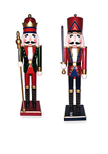Two-Piece King and Guard Nutcracker Set
