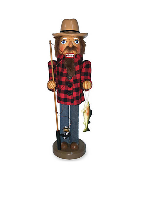 Santa's Workshop 14-Inch Spinning Reel Fisherman Nutcracker