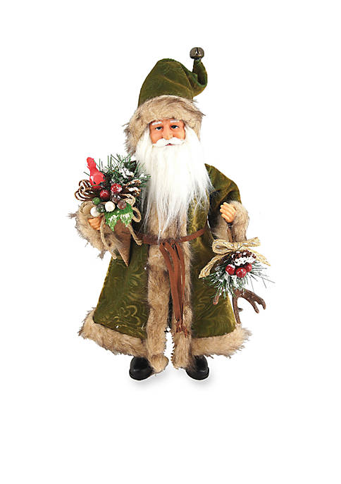 15-inch Green Forest Claus