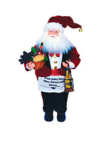 18-in. Wine Steward Santa