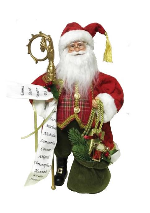Santa's Workshop 15 Inch Red Plaid Victorian Claus