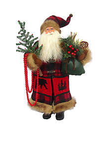 Buffalo Plaid Santa Claus