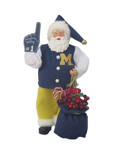 Santa's Workshop 12 inch NCAA Michigan Wolverines #1