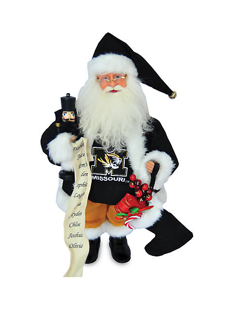 Santa's Workshop 15-in. Missouri Tigers Santa