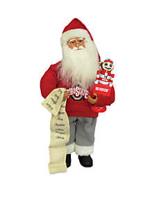 15-in. Ohio State Santa with Nutcracker
