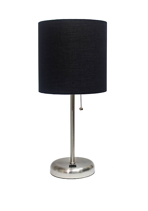 Limelights Stick Lamp with Charging Outlet and Fabric