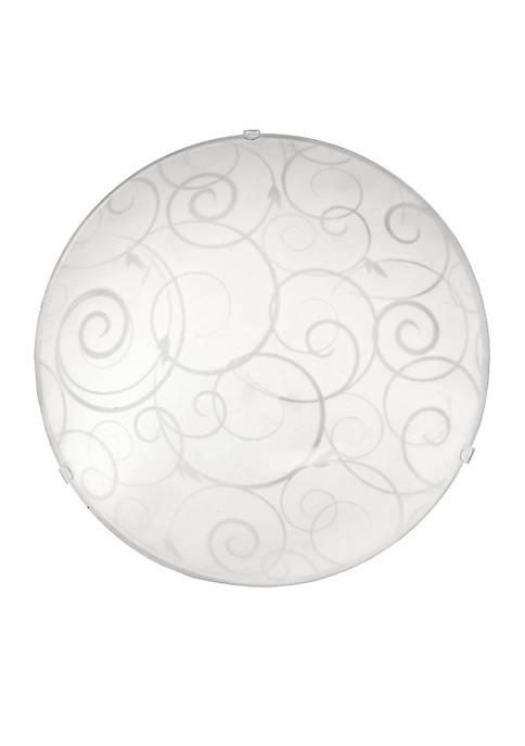 Round Flushmount Ceiling Light With Scroll Swirl Design