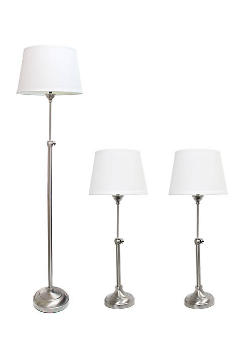 Elegant designs brushed nickel adjustable 3 pack lamp