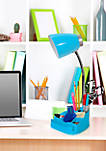 Gooseneck Organizer Desk Lamp with iPad Tablet Stand Book Holder
