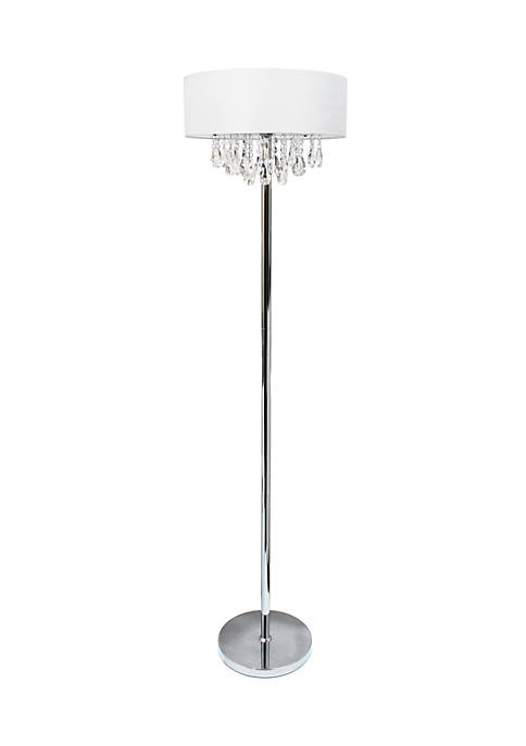 Trendy Cascading Crystal And Chrome Floor Lamp