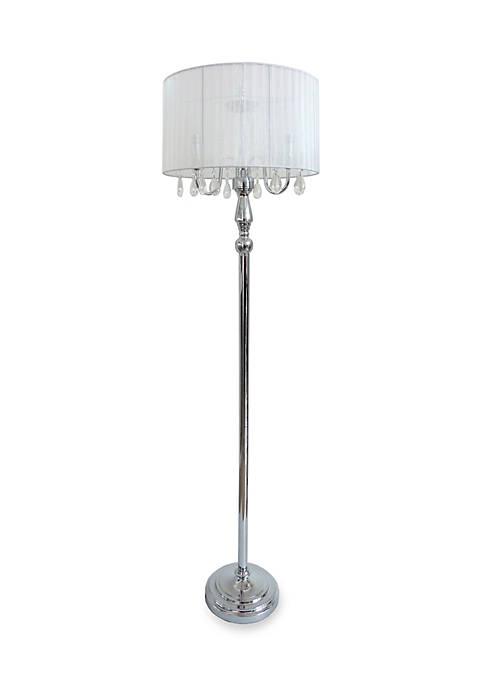 Elegant Designs Trendy Romantic Sheer Shade Floor Lamp