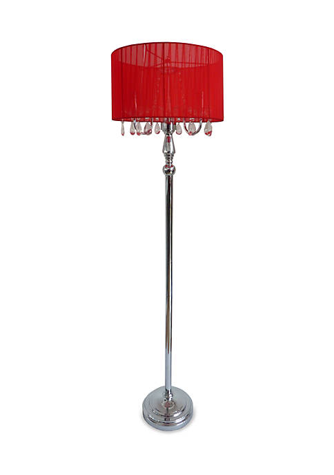 Elegant Designs Trendy Romantic Sheer Shade Floor Lamp