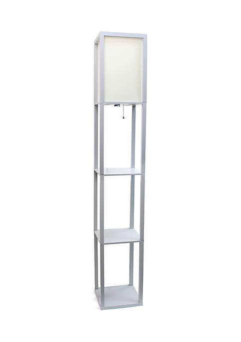 Etagere Organizer Storage Shelf Floor Lamp