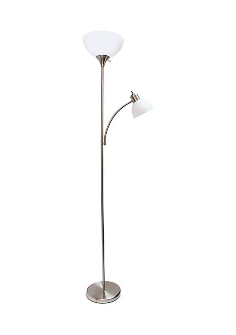 Floor Lamp Reading Light Brushed Nickel