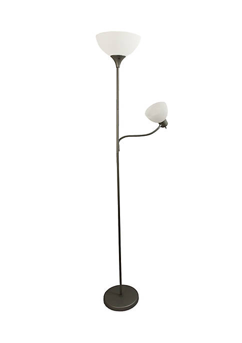 All the Rages Silver Floor Lamp with Reading