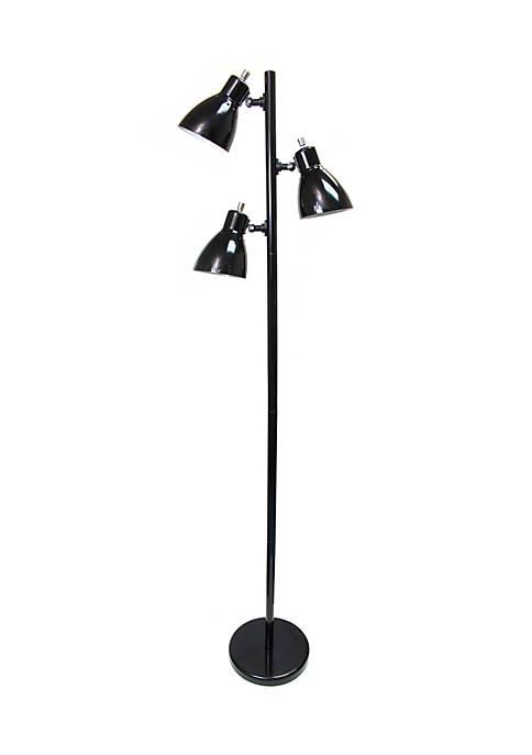 Simple Designs Metal 3-Light Tree Floor Lamp