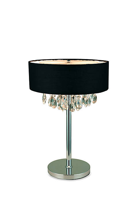 Elegant Designs Trendy Cascading Crystal And Chrome Table