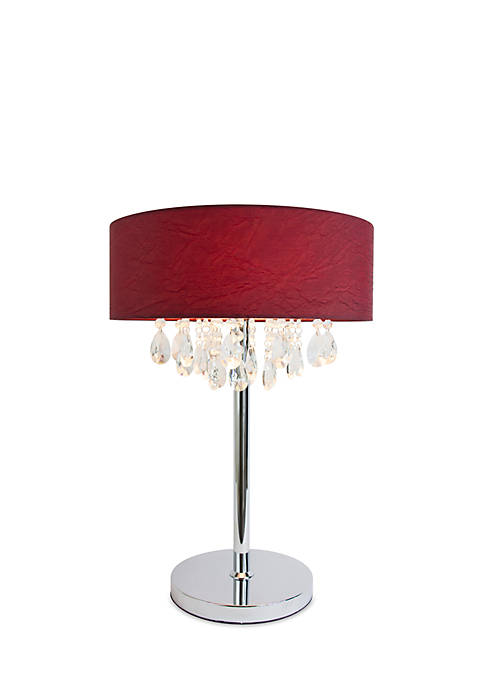 Trendy Cascading Crystal And Chrome Table Lamp