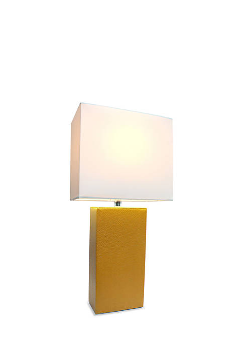 Modern Leather Table Lamp