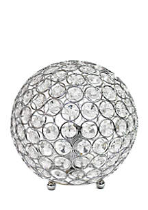 All the Rages Crystal Ball Sequin Table Lamp