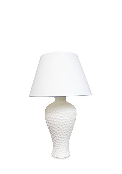 Textured Stucco Curvy Ceramic Table Lamp