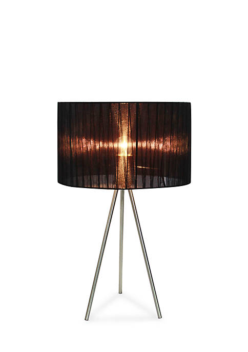 Simple Designs Brushed Nickel Tripod Table Lamp