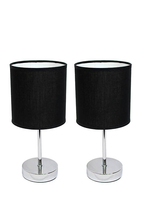 All the Rages Chrome Mini Table Lamps 2-Pack