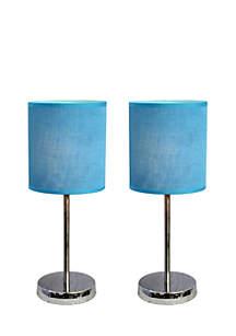 Chrome Mini Table Lamps 2-Pack