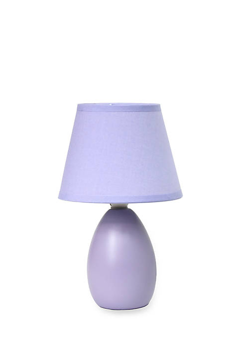 Simple Designs Mini Egg Oval Ceramic Table Lamp