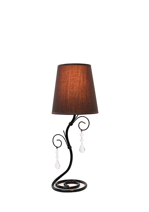 Simple Designs Twisted Vine Table Lamp With Hanging