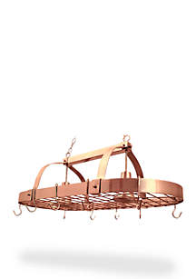 2 Light Kitchen Pot Rack with Downlights