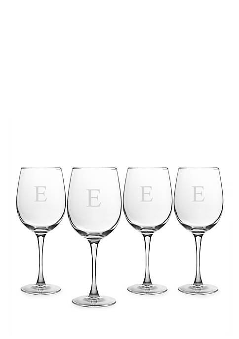 Cathy's Concepts Personalized White Wine Glasses (Set of