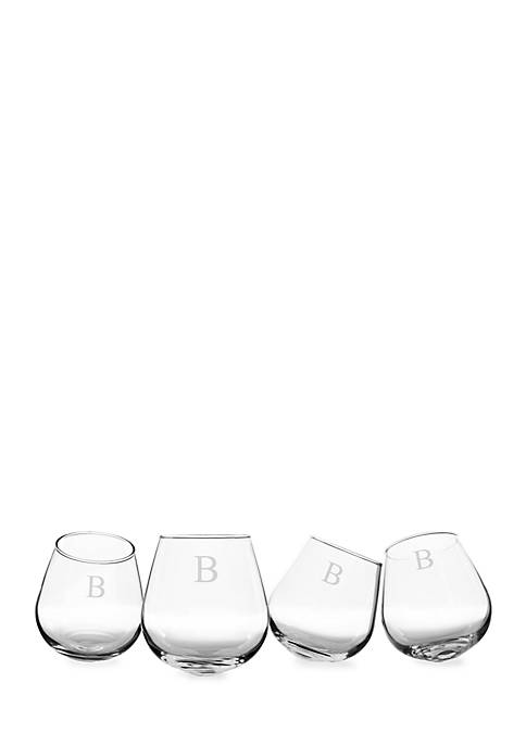 Cathy's Concepts Personalized Tipsy Wine Glasses (Set of