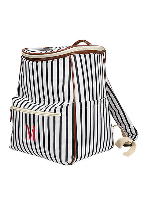 Cathy's Concepts Personalized Navy Striped Backpack Cooler