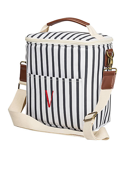 Cathy's Concepts Personalized Navy Striped Bottle Cooler