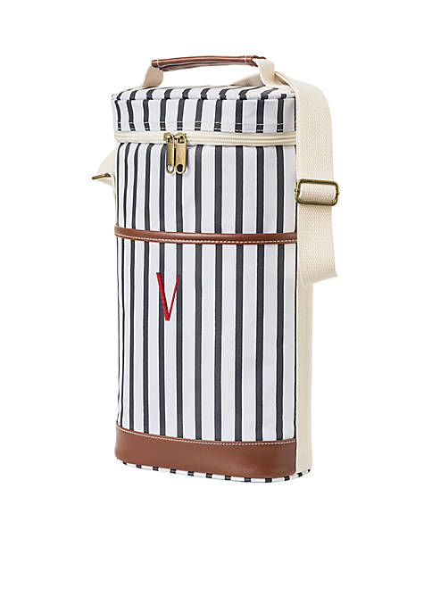 Cathy's Concepts Personalized Navy Striped Wine Cooler