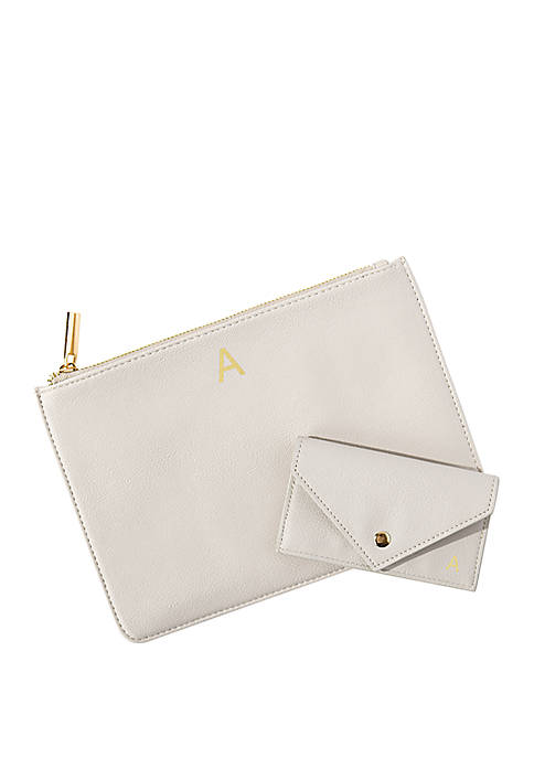 Personalized Clutch and Wallet Set