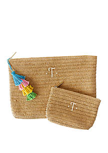 Cathy's Concepts Personalized Straw Clutch Set