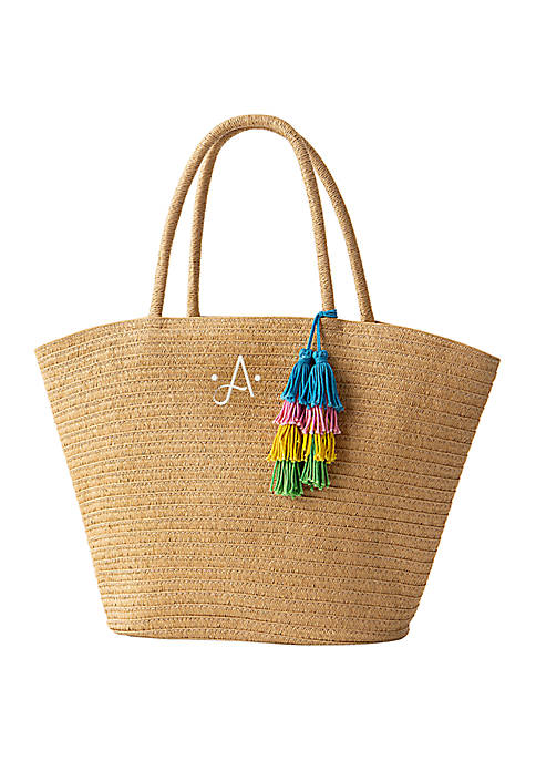 Cathy's Concepts Personalized Straw Tote