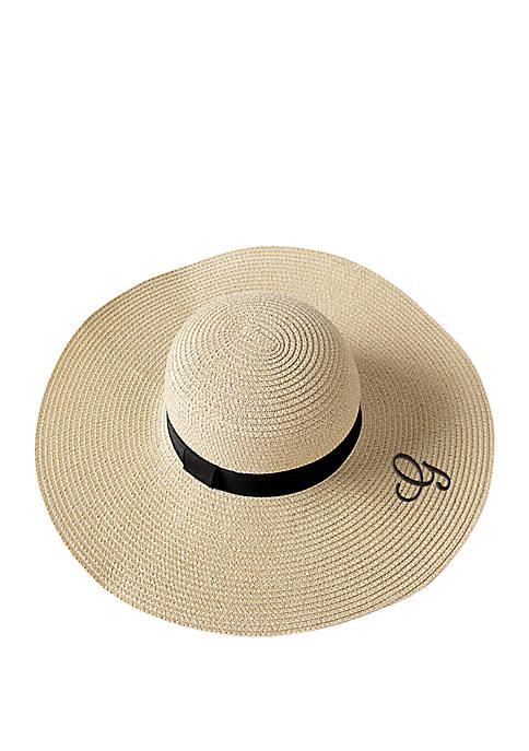Cathy's Concepts Personalized Natural Straw Sun Hat