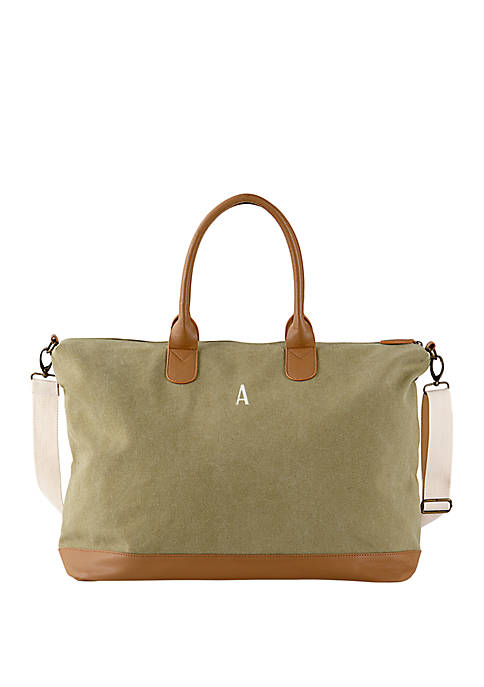 Cathy's Concepts Personalized Washed Canvas Weekender