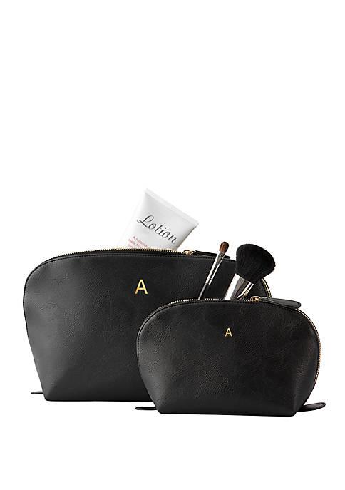 Personalized Vegan Leather Travel Set