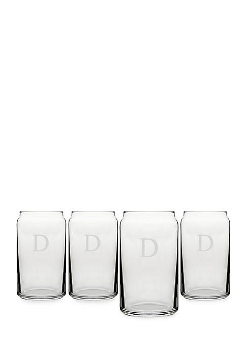 Cathy's Concepts Personalized Craft Beer Can Glasses (Set
