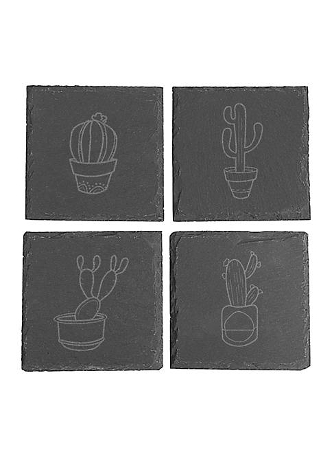 Cathy's Concepts Cactus Slate Coasters