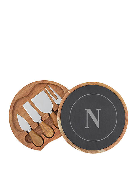 Cathy's Concepts Personalized 5-Piece Cheese Board Set