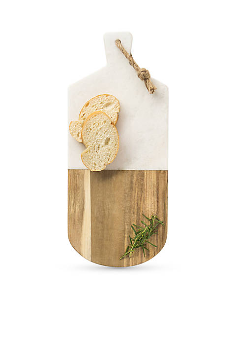 Cathy's Concepts Marble & Acacia Serving Board
